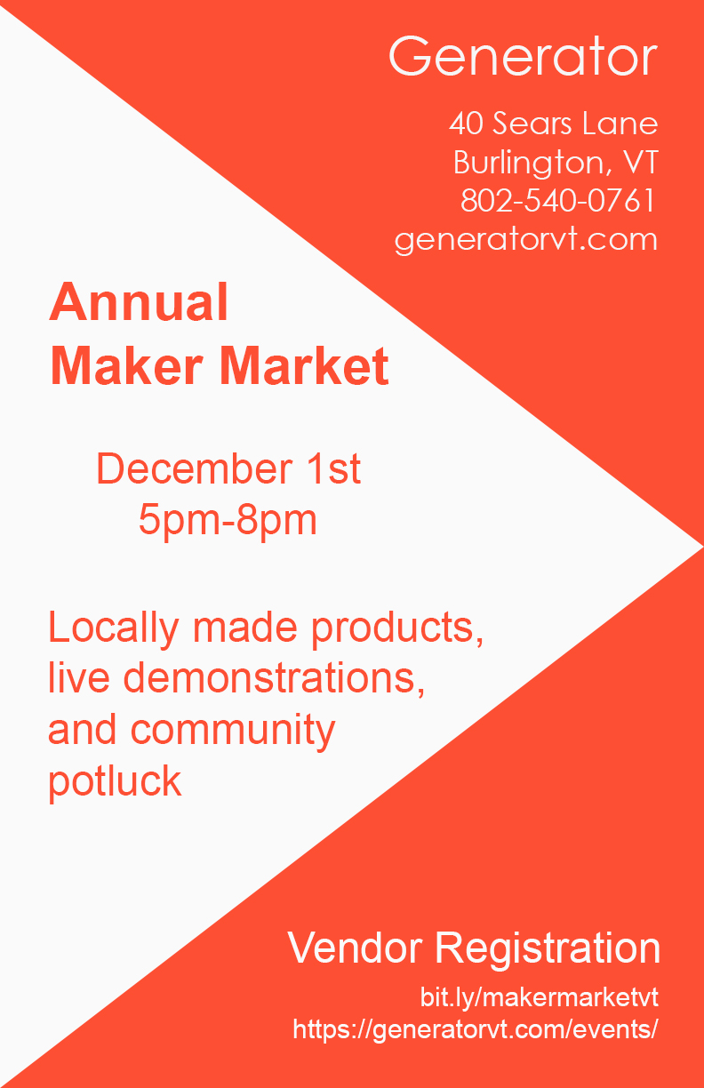 Maker Market and Holiday Potluck