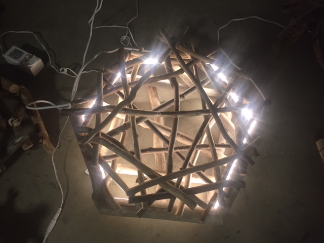 Clay Mohrman- Wood Light Sculpture