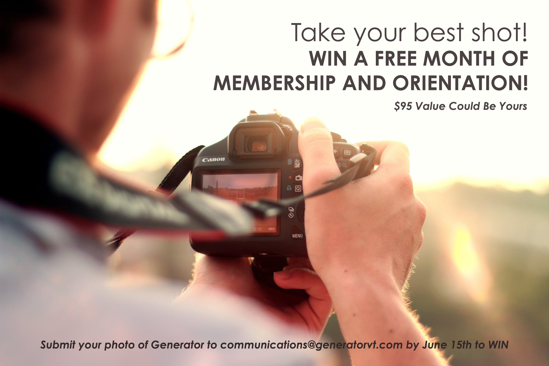 Photo Competition- Win Free Month of Membership