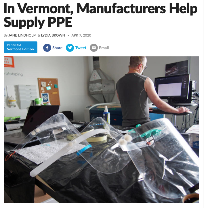 Vermont Edition: In Vermont, Manufacturers Help Supply PPE